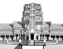 Angkor Wat Architectural Drawings & Orthophotos