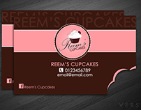 Reem's Cupcakes - Bitten Buisness Card/Norway