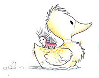 Shelly, The Lost Duckling - Picture Book Illustrations
