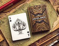 """Outlaws"" playing card deck"