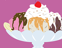 Banana Split Postage Stamp