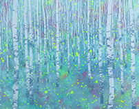 """Series of illustrations """"North forest.""""."""