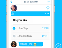 Social Media design for group messaging app Begroupd
