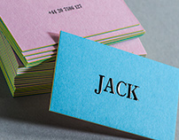 3PLY Business cards with Embossing and Letterpress