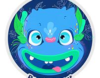 Sticker Mascot- Illustration for Renderforest