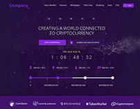 ICO Token sale One Page Website.