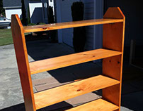 Whitewood Shelving with Natural Oak stain