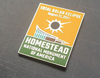 Solar Eclipse pin for Homestead National Monument