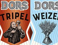 Dors Speciaal Bier Labels rendered by Steven Noble