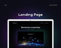 BlockX Landing Page Design