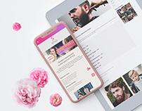 Business card site for an innovative beauty salon