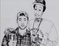 """Mac Miller & Wiz Khalifa – 2011 (""""8.5 x 11)"""