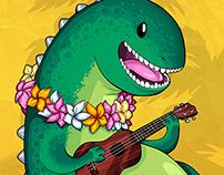 Ukulele Dinosaur