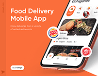 Food Delivery Mobile App | UI/UX Design