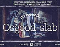 Osgood Slab | handmade slab serif typeface
