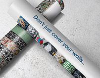 Wallpaper advertising for Bonsai