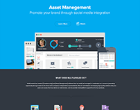 Flat Website Design For Software Company - Saas