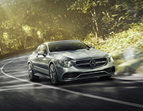 Mercedes-Benz S63 autumn road