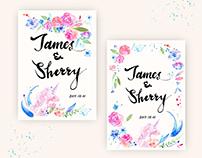 Wedding invitation illustration - J&S