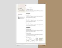 Free Minimalist Editable CV Resume Template