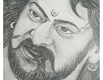Bahubali pencil sketch