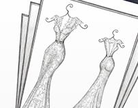 'Cathy' - Wedding Dress Illustration