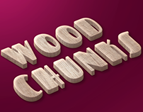 Wood Chunks Freebie Text Style PSD