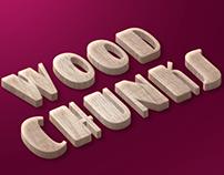 Wood Chunks Freebie Text Style PSD