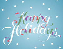 Happy Holidays Lettering Animation