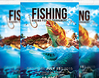 Fishing - Premium Flyer Template + Facebook Cover