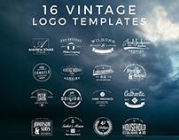 Free 16 Vintage Logo Templates