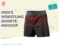 Men's Wrestling Shorts Mockup