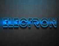 3D Electron Text Effect PSD
