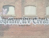 Philanthropy Overview: Part 3