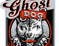 Ghost Dog Whiskey Label Illustrated by Steven Noble