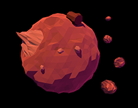 Animated Low Poly Planets