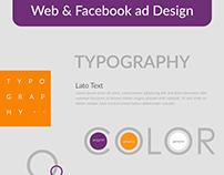Web & Facebook Ad Design Free Template