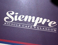 Siempre Bicycle Café Branding
