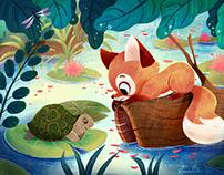 Fox Meeting a Turtle