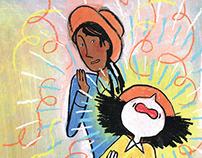 Aninha a Bruxinha - ilustração de livro infantil