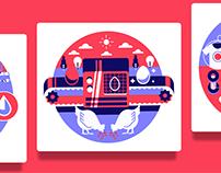 Startup guide illustrations