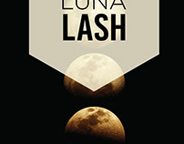 Luna Lash Salon door decal print and installation