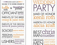 Clean & Simple Typographical Wedding Program