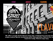 Bank Street Creamery Website Redesign (Coded)