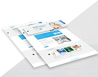 Home Page for a Medical Website