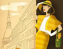 Illustrations for Girarrosti's stores