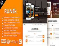 Runek - Material Design WordPress Theme
