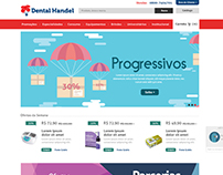 Layout Site E-commerce Dental Handel