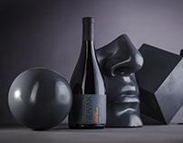 Limited Wine Label Design - Novak Gray Blend