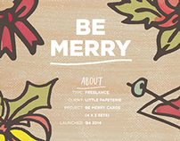 Be Merry / Typography Doodle for Little Papeterie